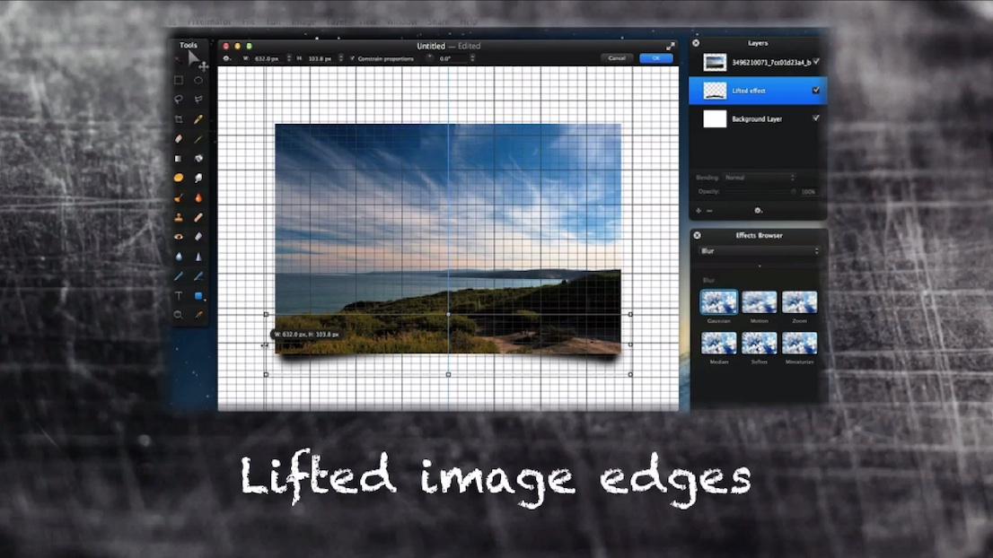 Lifted image edges